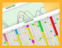 Таблиця / графік біоритмів на рік